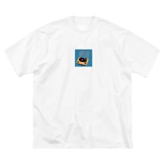憧れのレコード Big silhouette T-shirts
