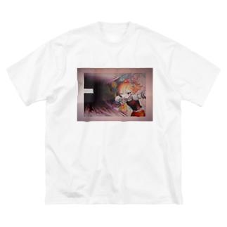 FOOL GIRL Big silhouette T-shirts