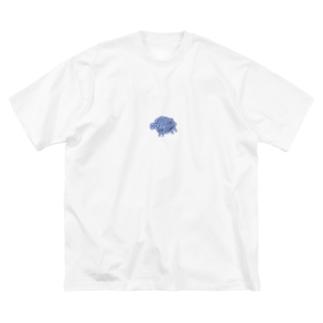川に流される羊 Big Silhouette T-Shirt