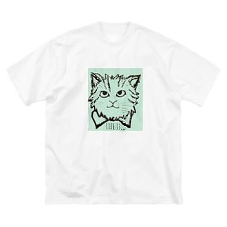 ミイちゃん 2 Big silhouette T-shirts
