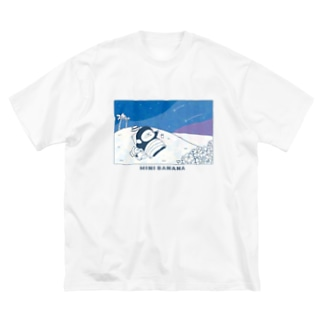 MINI BANANA ゴリラの親子のMINI BANANA 夜空ゴリラ Big silhouette T-shirts