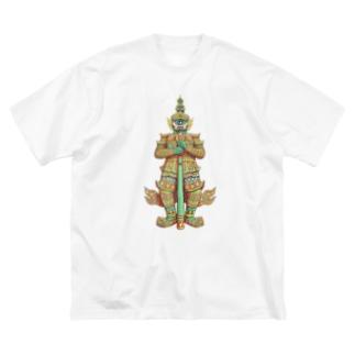 魔よけのヤック Big silhouette T-shirts