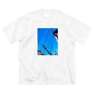 晴天 Big silhouette T-shirts