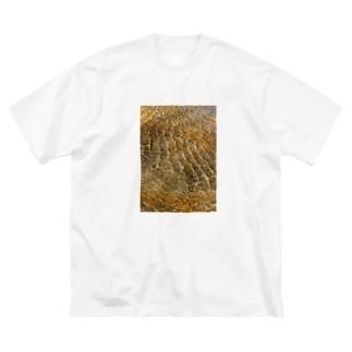 川の波紋 Big silhouette T-shirts