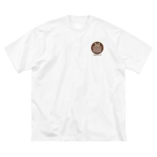 たぬきケーキ Big silhouette T-shirts