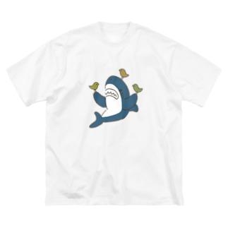 サメ ! さめ ! 鮫 ! (わりとおもい)のことりとサメ Big Silhouette T-Shirt