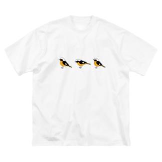 ジョウビタキ Big silhouette T-shirts