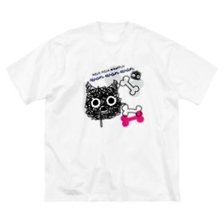 CT107 もじゃもじゃ★ぱっふん*wanwanwanA Big silhouette T-shirts