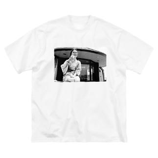 ぷはぁっ Big silhouette T-shirts