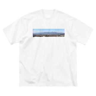 浅間山b Big silhouette T-shirts