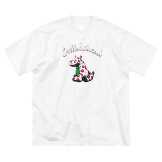 kei saitoのStuffed Animals_Hippo Big silhouette T-shirts