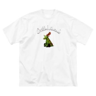 Stuffed Animals_Deer Big silhouette T-shirts