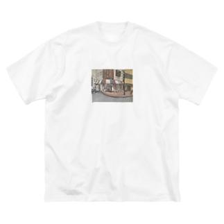 油絵 Big silhouette T-shirts