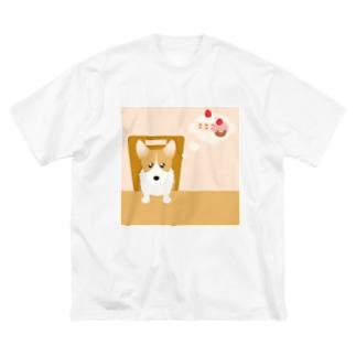 ウェルシュ・コーギー・ペンブローク Big silhouette T-shirts