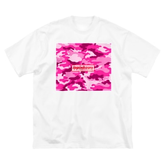 一品香『迷彩P』 Big silhouette T-shirts