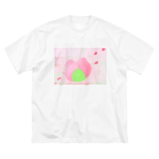 さくらもちくまsuisai Big silhouette T-shirts