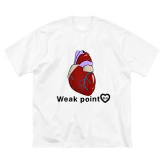 心の臓物 Big silhouette T-shirts