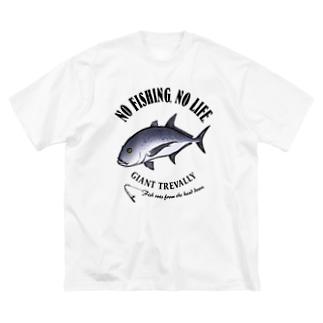 ROUNINAJI_EB_1CW Big silhouette T-shirts