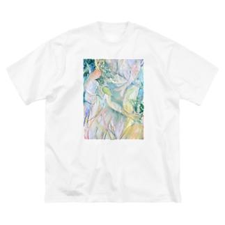 人魚 Big silhouette T-shirts