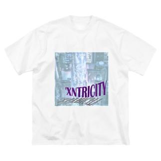 えきせんとりしてぃ-正方形 Big silhouette T-shirts