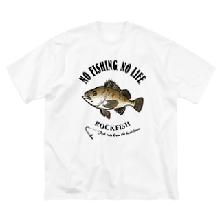 猫と釣り人のMEBARU_EB_1CW Big silhouette T-shirts