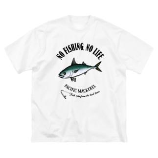 猫と釣り人のMASABA_EB_1CW Big silhouette T-shirts