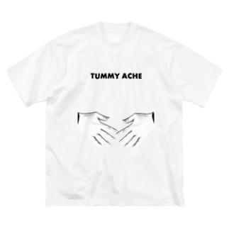 ポンポン痛い English ver. Big silhouette T-shirts