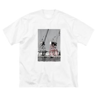 ガントリークレーン Big silhouette T-shirts
