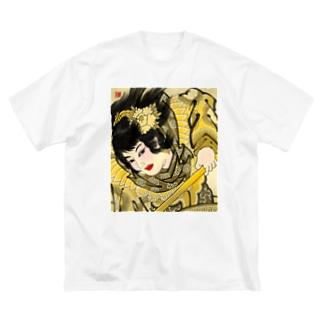 ねぷた絵「三国志 孫夫人」 野村雄大作 Big silhouette T-shirts