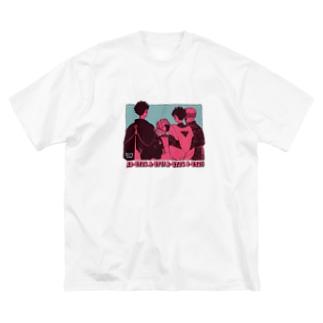 見せつけ匂わせ Big silhouette T-shirts