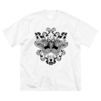 エコバグ黒 Big silhouette T-shirts
