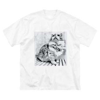 ゆいのりんりんうえむき Big silhouette T-shirts