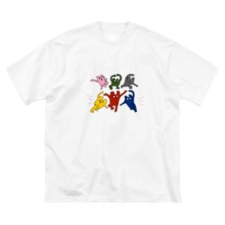 くまどんズビッグT Big silhouette T-shirts