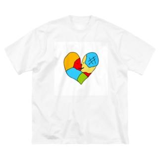 ガラスのハートさん Big silhouette T-shirts