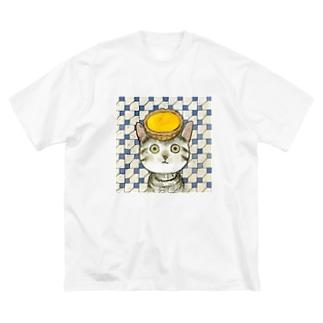 小野寺 光子 (Mitsuko Onodera)のエッグタルト猫 Big Silhouette T-Shirt