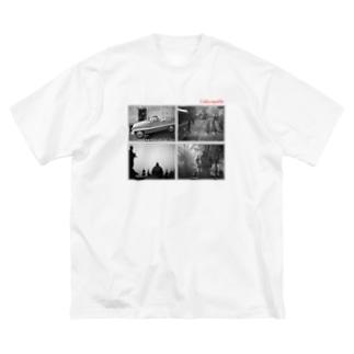 チェコのオールド写真 Big silhouette T-shirts
