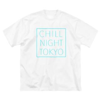 CNT square  logo / Tiffany  blue Big silhouette T-shirts