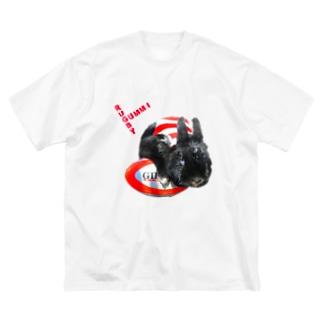 らぐみー Big silhouette T-shirts