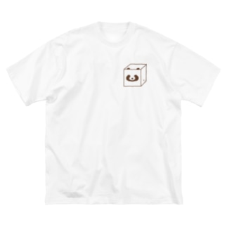 キューブたぬき Big silhouette T-shirts