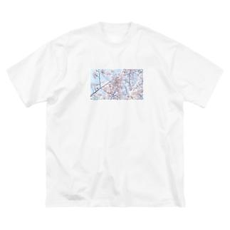 さくら Big silhouette T-shirts