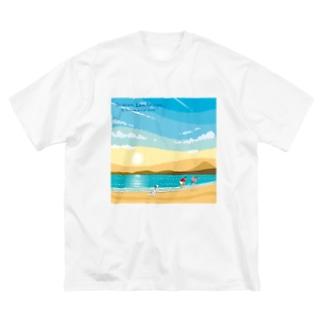湘南デザイン室:Negishi Shigenoriの湘南ランドスケープ02:ひこうき雲 Big silhouette T-shirts