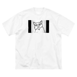 マスク ネコ Big silhouette T-shirts
