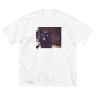 天☆ぺろ Big silhouette T-shirts