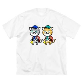 猫さまグッズ Big silhouette T-shirts