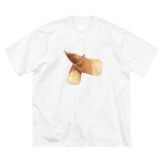 たけのこ Big silhouette T-shirts