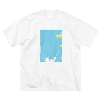 夏 プール Big silhouette T-shirts