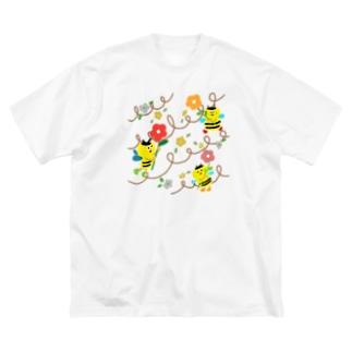 ミツバチ Big silhouette T-shirts