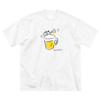 カンパイ! Big silhouette T-shirts