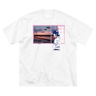 GIRLS AND SUPERNOVA #2 Big silhouette T-shirts
