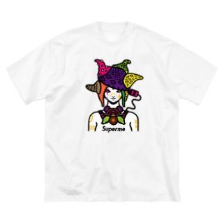 erubakki_超私 Big silhouette T-shirts